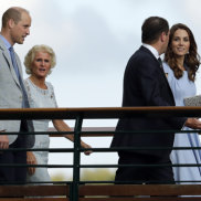 Prince William, left, and Kate, pictured last month in London.