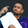 Time violation triggers Kyrgios feud with umpire in straight sets win