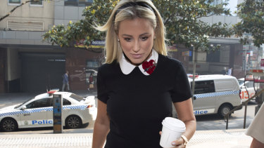 Roxy Jacenko arrives at the Downing Centre in November.