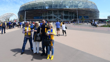 Fans have been banned from West Coast's home fixture against Fremantle today.