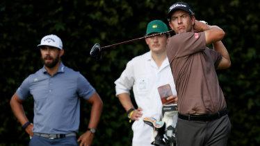 Adam Scott in practice at Augusta.