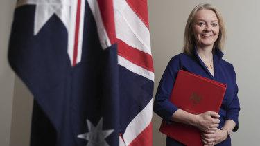 Britain's International Trade Secretary Liz Truss.