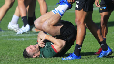 James Roberts joined his Souths teammates at training on Saturday.