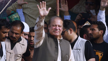 Deposed Pakistani prime minister Nawaz Sharif.