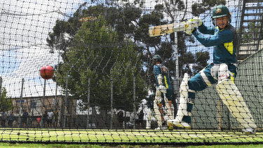 Perth boy Marcus Harris trains at the WACA ahead of the second Test in front of home crowd starting Friday.