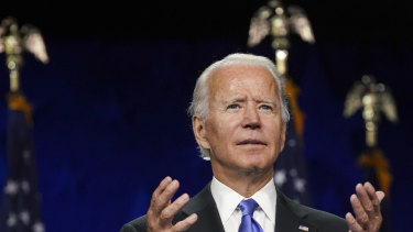 Democratic presidential nominee former vice-president Joe Biden will ramp up US climate change policy if he wins in November.