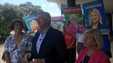 Brisbane lord mayoral candidate Patrick Condren casts his vote for the 2020 council election.