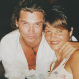Michael Hutchence with Helena Christensen, who speaks about the attack on her then boyfriend in Mystify: Michael Hutchence.