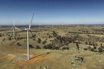 The Coonooer Bridge wind farm in Victoria.
