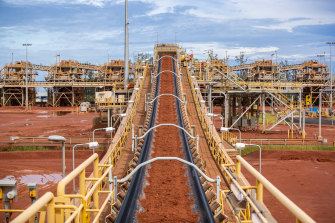 Alumina is made by refining bauxite. Rio Tinto is investigating how to reduce emissions in the refining process.