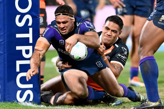 Dale Finucane was again strong for Melbourne in the 50-point thrashing of Wests Tigers on Saturday.