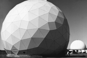 Radomes, made from material transparent to radio waves, protect the radar equipment at Nurrungar.