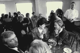 A long lunch at the Bluewater Grill at Bondi Beach in September 1987.