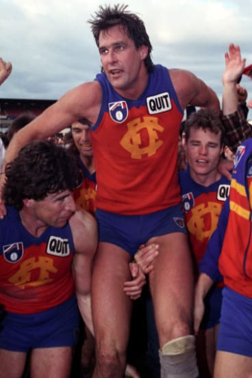 Matthew Rendell playing for Fitzroy in 1991.