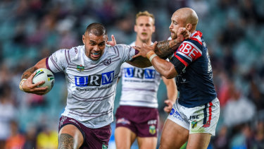 Departure: Frank Winterstein (left) could soon be on the move from the Sea Eagles.