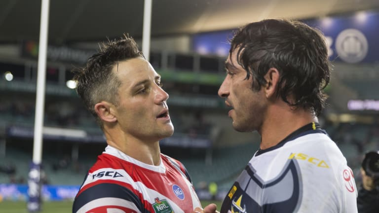 Right call ... Johnathan Thurston knew the Roosters' call to sign Cooper Cronk would be vindicated.