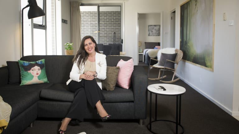 Laurie McDonald in one of the properties her business Canberra Furnished Accommodation provides for temporary and short stays.