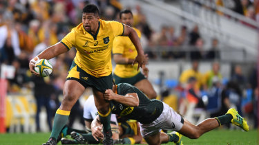 Wallabies hooker Folau Faingaa is determined to play at his first World Cup later this year.