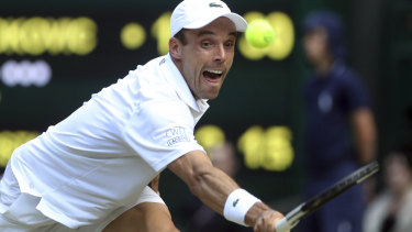 Spain's Roberto Bautista Agut had the crowd on his side at Wimbledon.