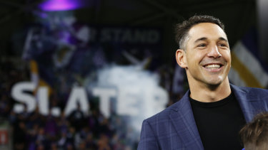Taking a punt: Billy Slater has been offered a contract to join Ricky Ponting as a BetEasy ambassador.