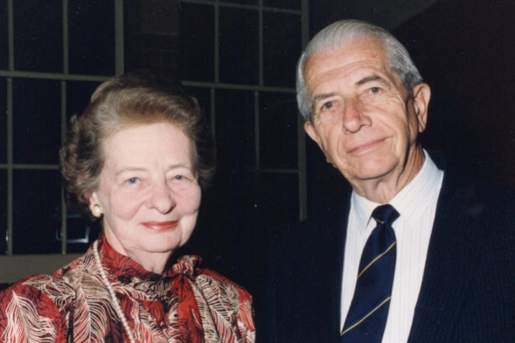 Gordon Maitland with wife, Dorothy.
