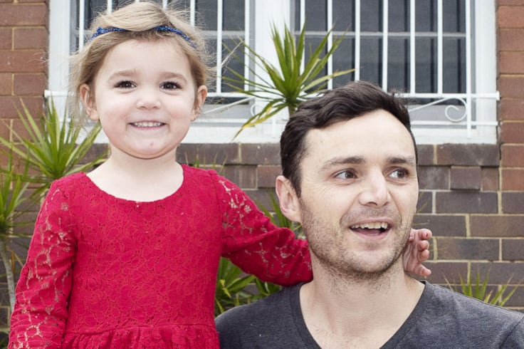 Shaun Hardy says bringing up his daughter in Ashfield has helped him and his wife feel connected to the community.