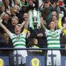 Rogic's Celtic beats Hearts to win historic 'treble treble'