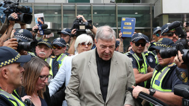 A prince of the church disgraced:  Cardinal George Pell.
