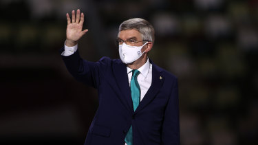 President of the International Olympic Committee, Thomas Bach during the closing ceremony.