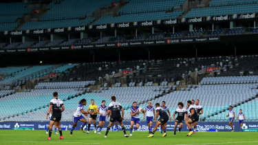 Round 2 of the NRL kicked off in front of an empty ANZ Stadium on Thursday night.