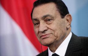 Egyption President Hosni Mubarak speaks to the media following talks with German Chancellor Angela Merkel, March 4, 2010 in Berlin, Germany.