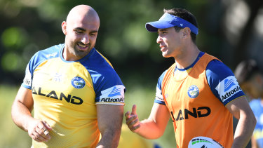 Strain: The relationship between Tim Mannah and Mitchell Moses has hit the rocks in recent weeks.