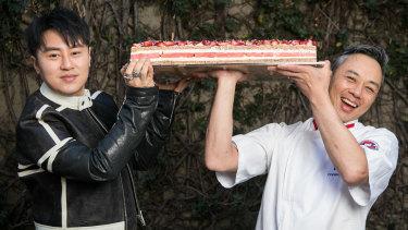 Today Australia Street, tomorrow the world: Louis Li with Black Star Pastry founder ChristopherThé.