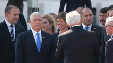 US Vice-President Mike Pence attends an international ceremony to commemorate the 80th anniversary of the outbreak of World War II on in Warsaw, Poland.