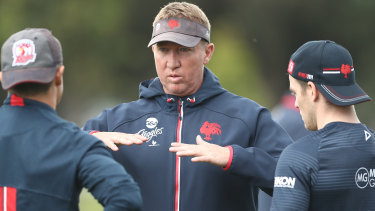 Coach with the most: Roosters coach Trent Robinson is the best in the game, according to NRL players.