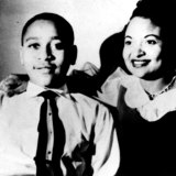 Emmett Till, whose lynching in 1955 became a catalyst for the civil rights movement, with his mother Mamie Till-Mobley.
