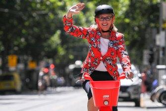 Melbourne lord mayor Sally Capp is a fan of the Jump e-bike scheme.