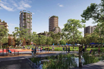 The government has lodged a lower-density plan than initially proposed for part of the Waterloo public housing estate.