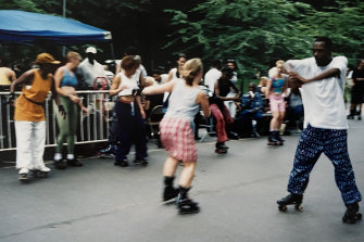 """Newlyweds Tegan and Tony had fallen in love with New York, including Central Park's """"crazy"""" roller skaters"""