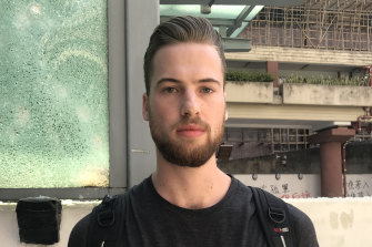 Simon MacIsaac, 24 from Monash University has decided to stay at HKU despite the unrest in Hong Kong.