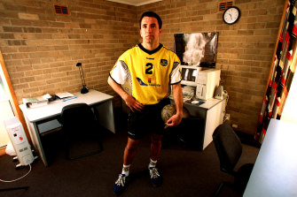 Taip Ramadani is one of Australia's few true handball diehards.