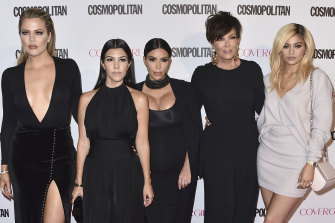 """From left, Khloe, Kourtney and Kim, and Kris and Kylie Jenner. Disney has struck a """"multi-year, global"""" deal with the Kardashian-Jenner family."""