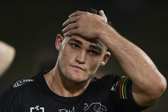 Panthers star Nathan Cleary is facing a two-match ban for his Anzac Day social distancing slip-up.