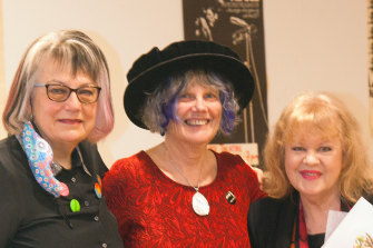 Meredith Burgmann, Nadia Wheatley and Patricia Amphlett (Little Patty) at the launch of the book Radicals: Remembering the Sixties.