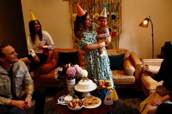 Alexandra Whiting hosts a social-distancing first birthday party for her son, August.