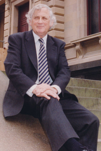 Blainey when he was appointed the inaugural chancellor at Ballarat University