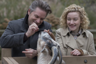 Shea Whigham and Julia Garner in Modern Love.