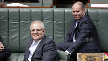 Prime Minister Scott Morrison and Treasurer Josh Frydenberg.