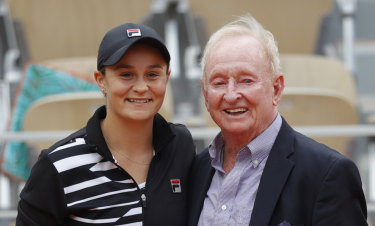 Bold prediction: Rod Laver was full of praise for Ash Barty.