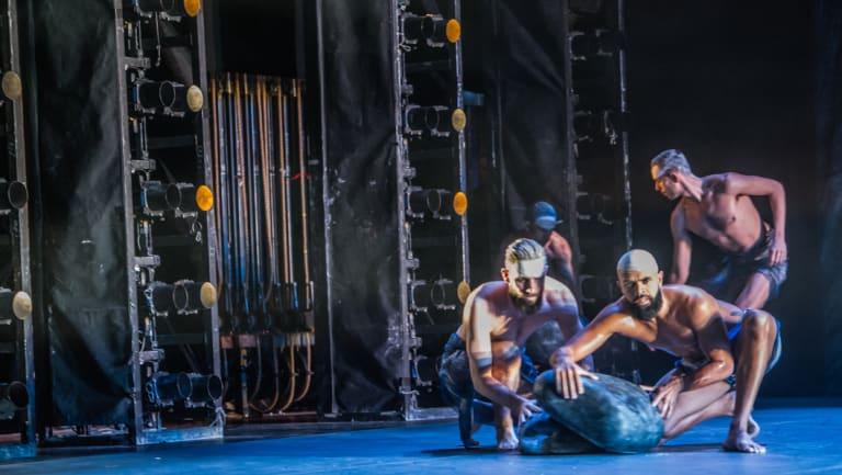 A scene from Bangarra's <i>Dark Emu</i> at the Canberra Theatre.